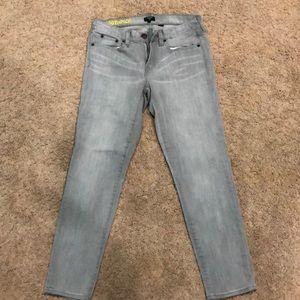 J. Crew toothpick stretchy gray jeans size 27